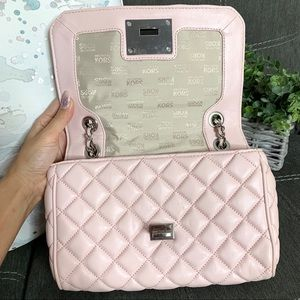 Michael Kors Bags - MK Vivianne Light Pink Quilted Chain Flap Handbag
